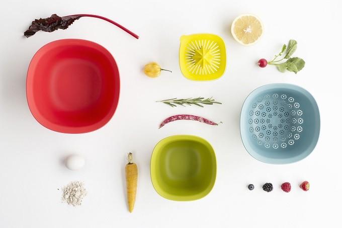 Accessoires cuisine : le kit coloré et emboitable de Brabantia