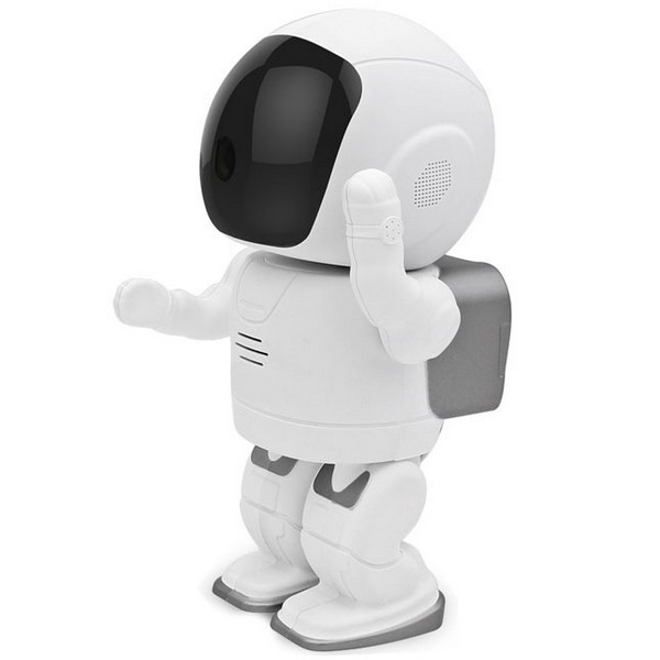IP Robot cosmonaute, sous le casque la caméra