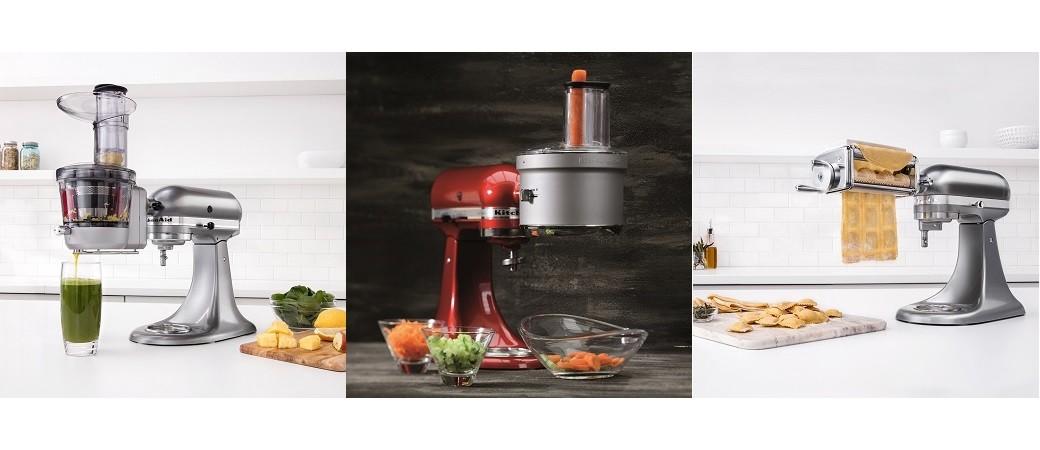 KitchenAid use de l'accessoire pour mettre à jour ses robots