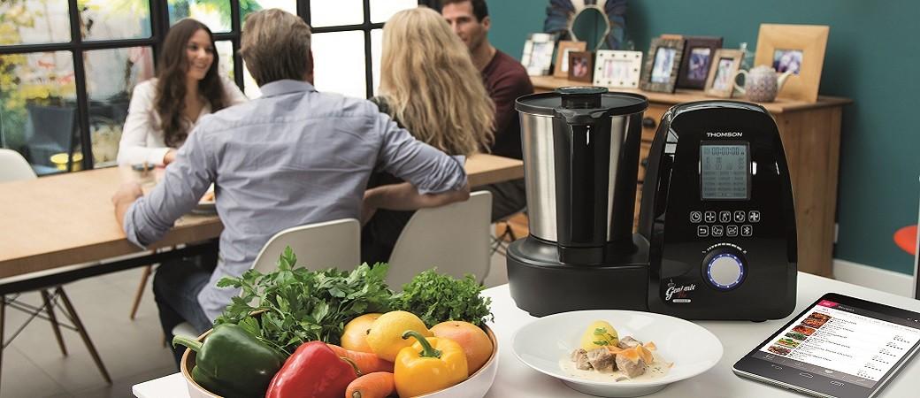Geni mix Pro Connect, le  robot culinaire et connecté de Thomson