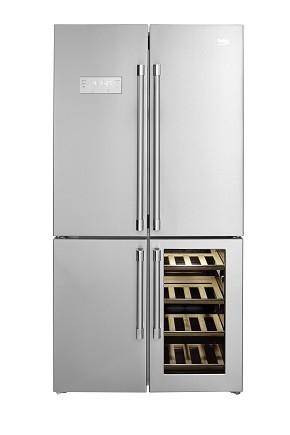 Cave à vin, réfrigérateur et congélateur : Beko GN1416220CX , le 3 en 1 du froid