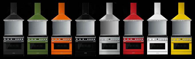 Smeg Portofino, le centre de cuisson multicolore et spacieux