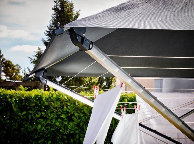 Leifheit LinoProtect 400, le séchoir à linge qui fait parapluie et parasol