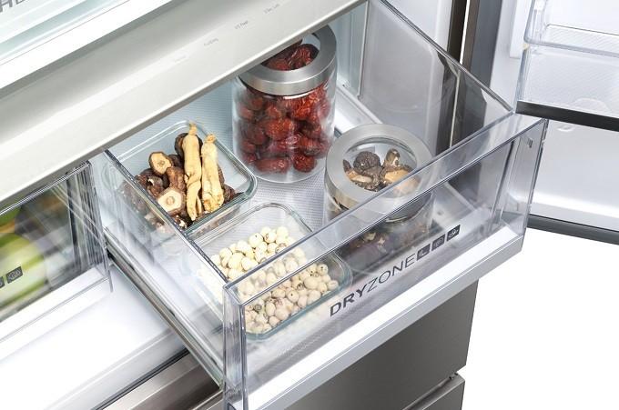 Haier hb18fgsaaa un r frig rateur multi portes qui for Refrigerateur americain miroir