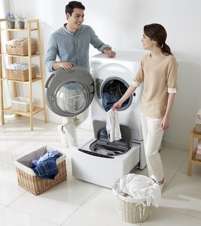 LG TwinWash T14G1GWHS  , un seul lave-linge pour deux tambours
