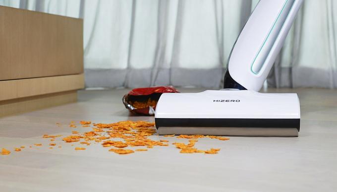 Hizero Bionic, balai sans fil qui lave et sèche les sols durs