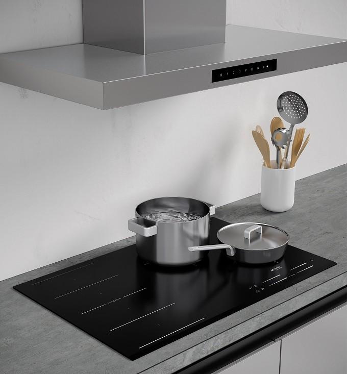 Smeg connecte ses tables de cuisson à ses hottes, et tout devient plus simple