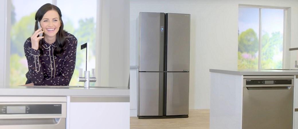 Lave-vaisselle, lave-linge, réfrigérateur 4 portes… Sharp fait ses gammes en silence