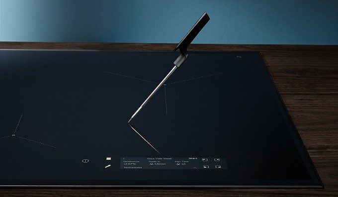 Electrolux SensePro, la table induction avec sonde de cuisson sans fil