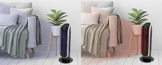 EWT Maxi HCB Heat & Cool, ventilateur l'été, chauffage d'appoint l'hiver