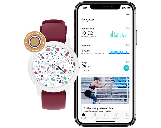 Withings Move,  montre connectée et personnalisable Made in France