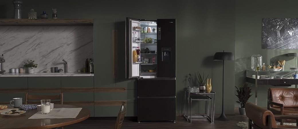 Réfrigérateur Congélateur Haier Iconic Black, l'élégance et la performance