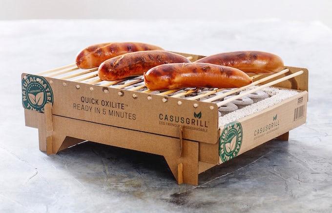 CasusGrill, un barbecue jetable biodégradable