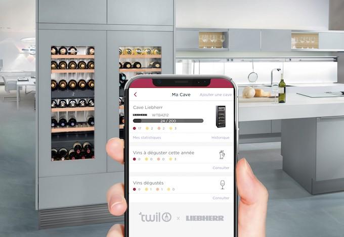 Twil et Liebherr proposent aux amateurs  de vin un service pour gérer leur cave