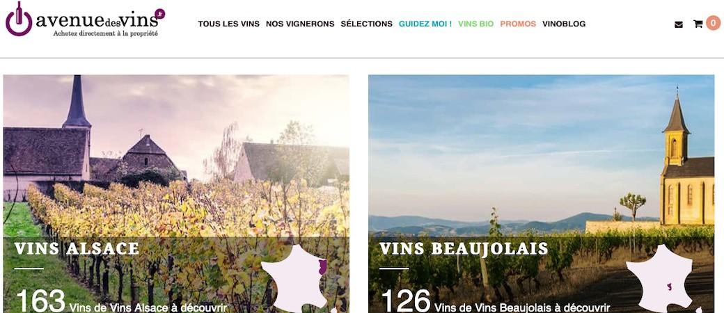 Avenue des vins, acheter de chez soi son vin à la propriété