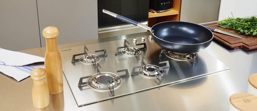 Table de cuisson Smeg PXL675L, la beauté du gaz