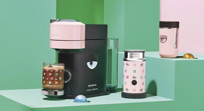 Avec  Chiara Ferragni, Nespresso revisite le design de ses machines en éditions limitées et estivales