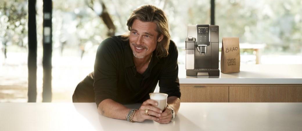 Brad Pitt roule pour les belles machines De'Longhi et leur café en grain