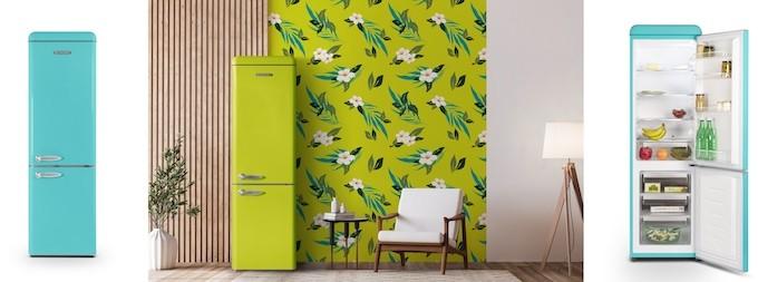 Feeling's 70's , la collection très colorée de réfrigérateurs Schneider